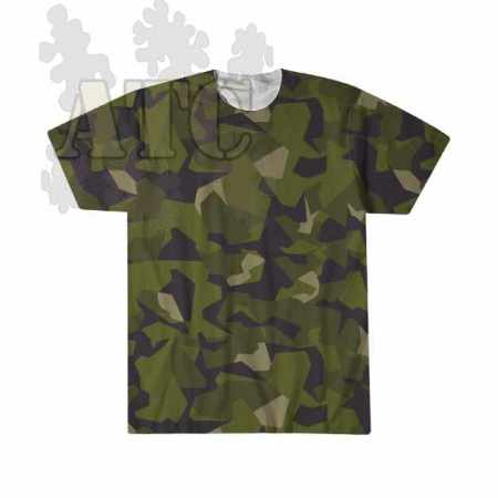 swedish Camo M90 sublimation printed Tee Shirt