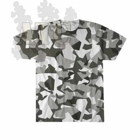 swedish M90 urban Camo sublimation printed Tee Shirt