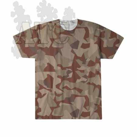 swedish M90 Desert Camo sublimation printed Tee Shirt