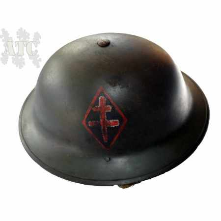 Casque Anglais WWII Brodie MK-II 1ère DFL  reproduction