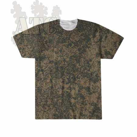 Tshirt Camo russe digital flora mountain imprimé par sublimation