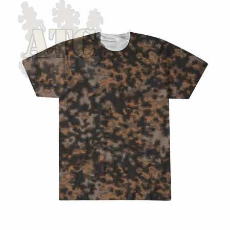 Tshirt Camo allemand WWII blurred edges autumn camouflage tee imprimé par sublimation