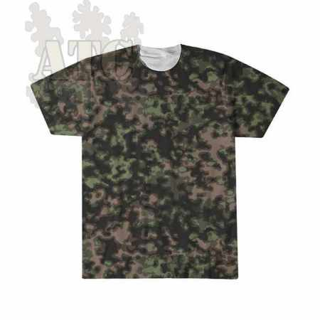 Tshirt Camo allemandWWII blurred edges summer camouflage tee imprimé par sublimation
