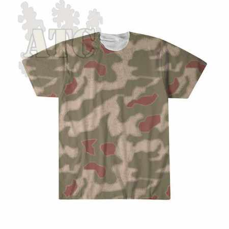 Tshirt Camo allemand WWII WWII sumpfmuster44 camouflage tee imprimé par sublimation