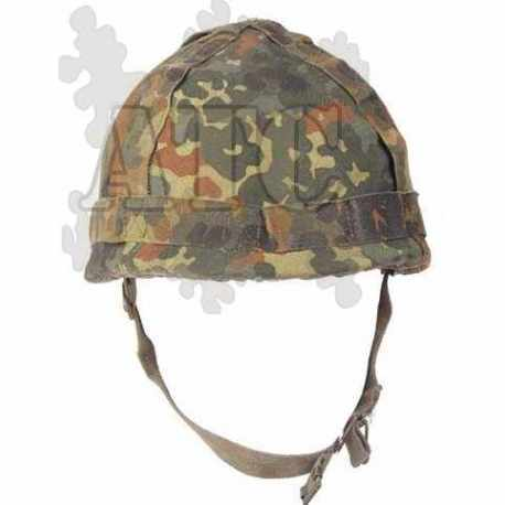 Couvre casque flecktarn bundeswehr réversible d'occasion pour casque schuberth Modell B Typ 826