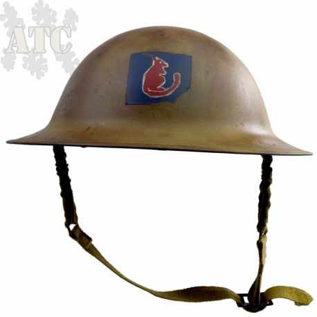 Casque Anglais WWII Brodie MK-II 7th Armoured Division Desert Rats reproduction